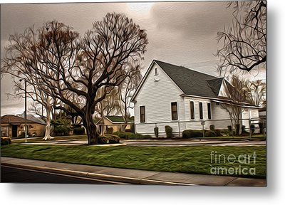 Chino Old School House - 04 Metal Print by Gregory Dyer