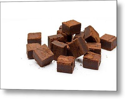 Chocolate Brownies Metal Print by Mike Taylor