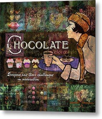 Chocolate Metal Print by Evie Cook