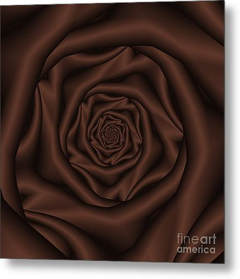 Chocolate Rose Spiral Metal Print by Colin  Forrest