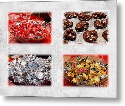 Choice Of Chocolate 4 X 4 Collage 2 - Sweets - Candy Shoppe Metal Print by Andee Design