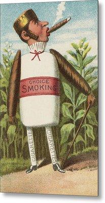 Choice Smoking Metal Print by Aged Pixel