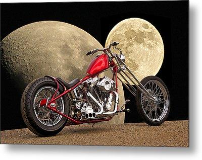 Chopper Two Moons Metal Print by Dave Koontz