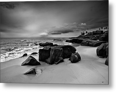 Chris's Rock 2013 Black And White Metal Print by Peter Tellone
