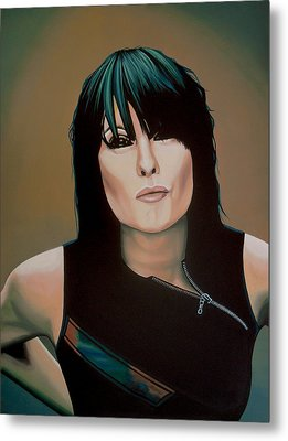 Chrissie Hynde Painting Metal Print by Paul Meijering