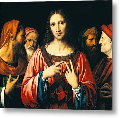 Christ Among The Doctors Metal Print by Bernardino Luini