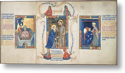 Christ Appears To Magdalene Metal Print by British Library