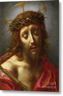 Christ As The Man Of Sorrows Metal Print by Carlo Dolci