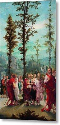 Christ Bids Farewell To The Apostles Metal Print by Mountain Dreams
