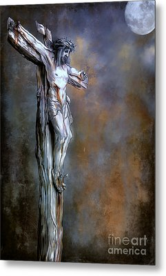Christ On The Cross  Metal Print by Andrzej Szczerski