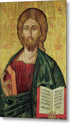 Christ Pantocrator Metal Print by Bulgarian School