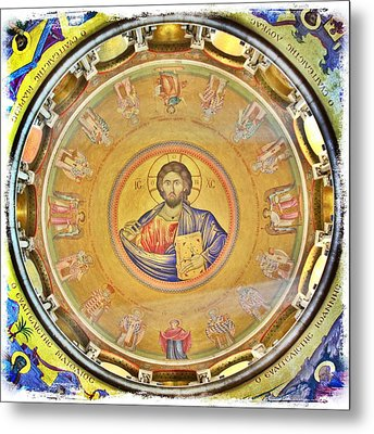 Christ Pantocrator -- Church Of The Holy Sepulchre Metal Print by Stephen Stookey