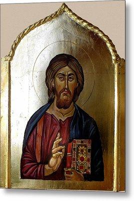 Christ Pantocrator Metal Print by Filip Mihail