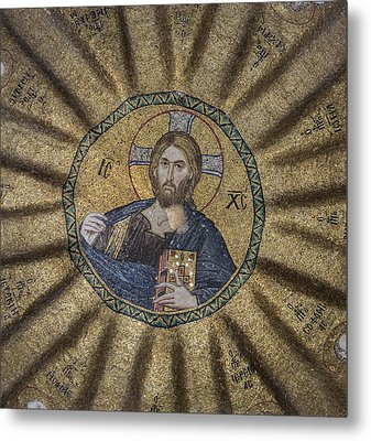 Christ Pantocrator Surrounded By The Prophets Of The Old Testament 1 Metal Print by Ayhan Altun