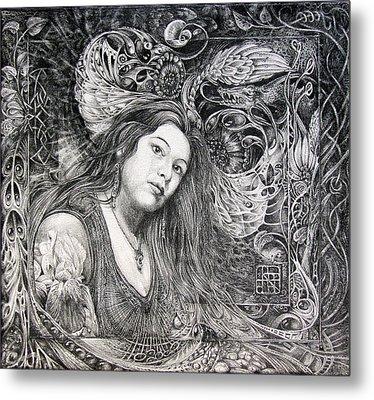 Christan Portrait Metal Print by Otto Rapp