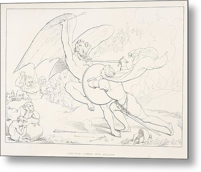 Christian Combats With Apllyon Metal Print by British Library