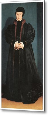 Christina Of Denmark Duchess Of Milan Metal Print by Hans Holbein the Younger