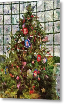 Christmas - An American Christmas Metal Print by Mike Savad