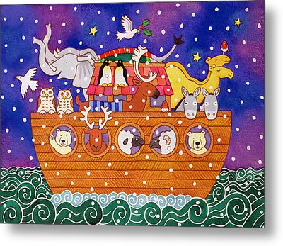 Christmas Ark Metal Print by Cathy Baxter