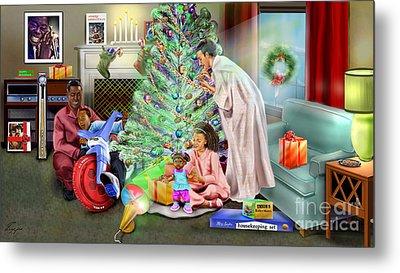 Christmas Back In Da Day Metal Print by Reggie Duffie