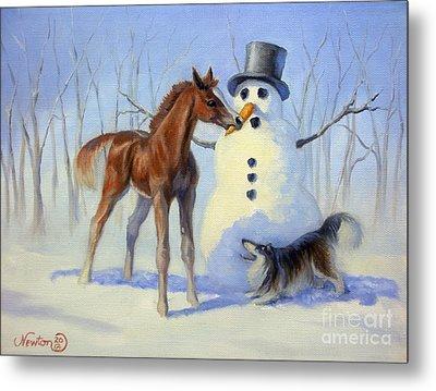 Christmas Bounty Metal Print by Jeanne Newton Schoborg