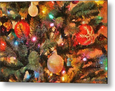 Christmas Branches Metal Print by Jeff Kolker