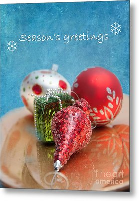 Christmas Card 6 Metal Print by Betty LaRue