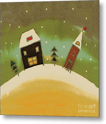 Christmas Card Metal Print by Yana Vergasova
