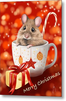 Christmas Cup Metal Print by Veronica Minozzi