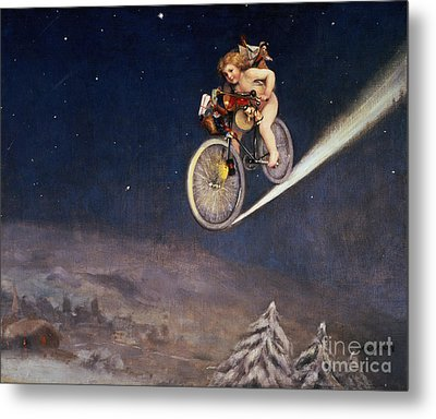 Christmas Delivery Metal Print by Jose Frappa