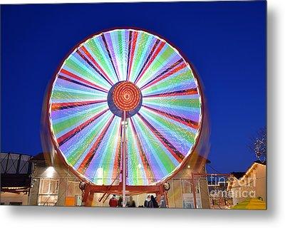 Christmas Ferris Wheel Metal Print by George Atsametakis