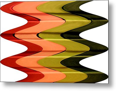 Christmas Frenzy Op Art Metal Print by Patricia Sundik