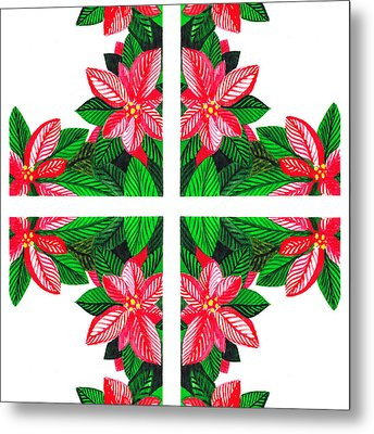 Christmas Gift Metal Print by Irina Sztukowski