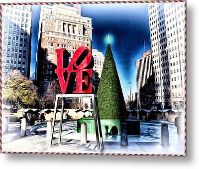 Christmas In Philadelphia Metal Print by Bill Cannon