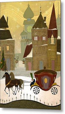 Christmas In The Old World Metal Print by Kristina Vardazaryan
