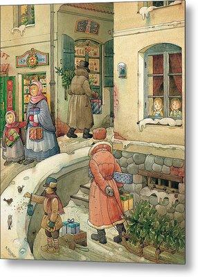 Christmas In The Town Metal Print by Kestutis Kasparavicius