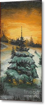 Christmas Is Coming Metal Print by Sorin Apostolescu