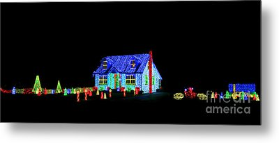 Christmas Lights Metal Print by Olivier Le Queinec