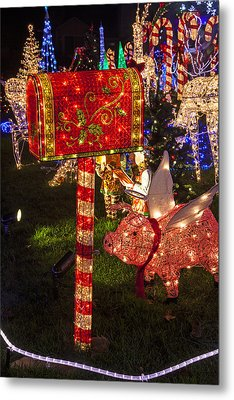 Christmas Mailbox Metal Print by Garry Gay