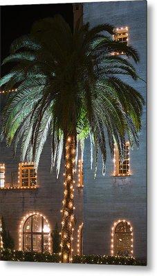 Christmas Palm Metal Print by Kenneth Albin