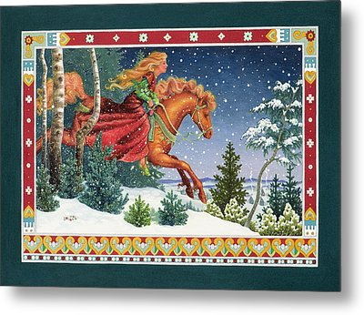 Christmas Ride Metal Print by Lynn Bywaters