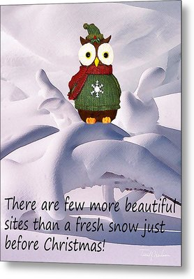 Christmas Season Snow Metal Print by Terril Heilman