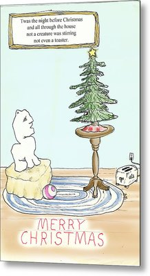 Christmas Toaster Metal Print by Alan McCormick