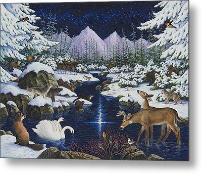 Christmas Wonder Metal Print by Lynn Bywaters