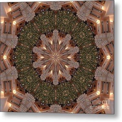 Christmas Wreath Metal Print by Lena Photo Art