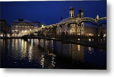 Christmastime In Lucerne Metal Print by Liz Naepflin