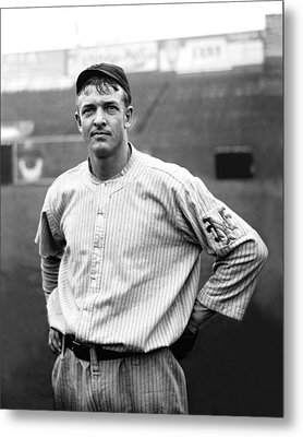 Christy Mathewson Ready To Throw Metal Print by Retro Images Archive