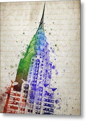 Chrysler Building Metal Print by Aged Pixel