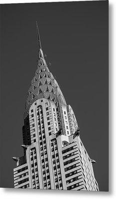 Chrysler Building Bw Metal Print by Susan Candelario