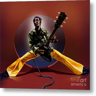 Chuck Berry - This Is How We Do It Metal Print by Reggie Duffie